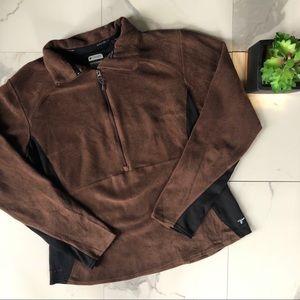 Columbia Titanium Brown & Black Fleece Pullover
